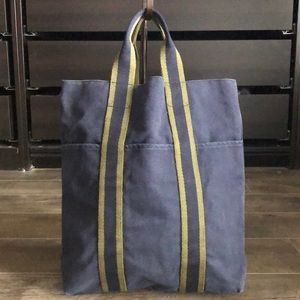 01e77e595ed Hermes Bags   Herms Vintage Fourre Tout Cabas Canvas Tote Bag   Poshmark